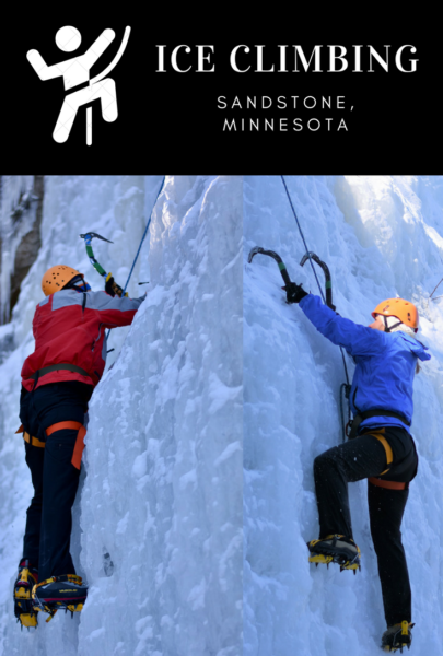 Ice Climbing In Sandstone, Minnesota