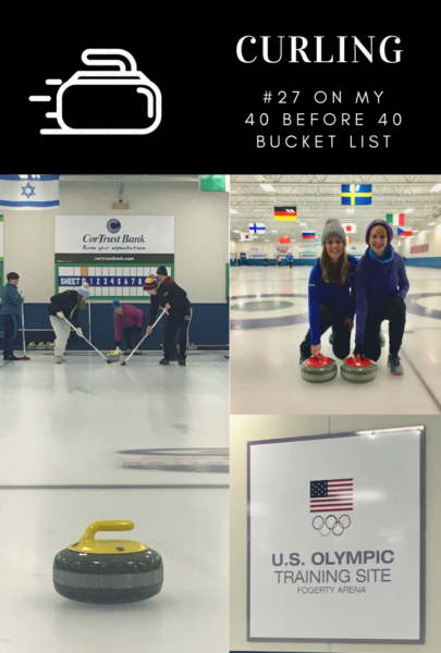 Curling at an Olympic Training Site